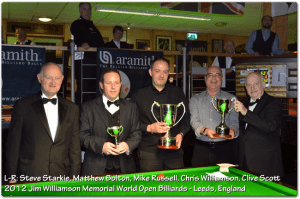 2012 Jim Williamson Trophy