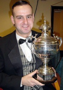 David Causier with the UK Championship Trophy 2000