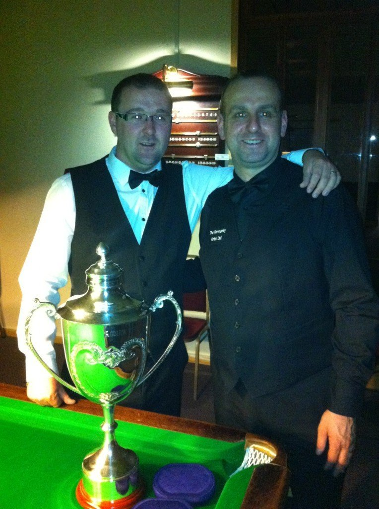 Finalists Rob Hall & Dave Causier with the Ron Agnew Trophy