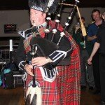 The Piper leading in the Scottish Teams