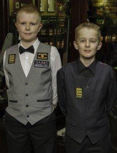England Junior Internationals Sean McAllister and Ryan Davies